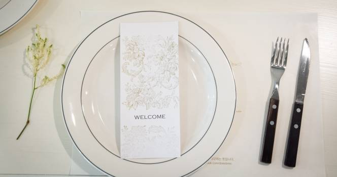Clean dinner dish fork Free Photo