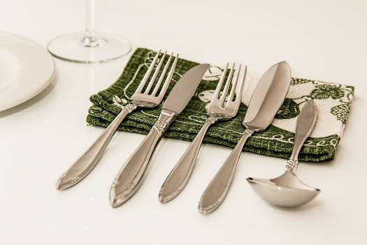 Celebration christmas cutlery dining Free Photo