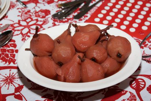 Christmas dinner cooking pears pears red Free Photo