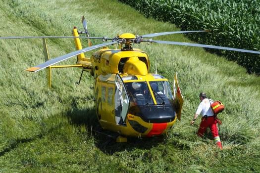 Accident rescue adac air rescue ambulance helicopter Free Photo