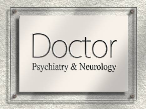 Doctor door sign nameplate neurology Free Photo