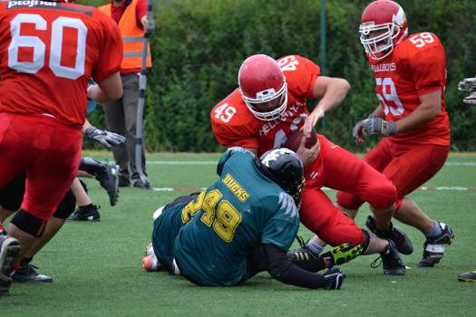 American football ball chamfer ground contact game Free Photo
