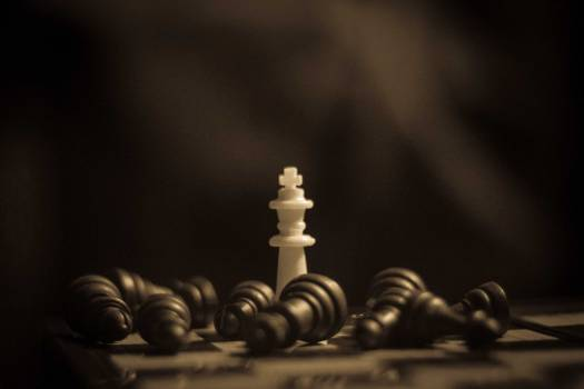 Chess king power victory Free Photo
