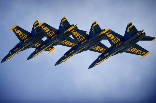 Aerobatics aircraft airplanes blue angels Free Photo