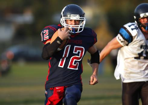 Action american football ball carrier canada Free Photo
