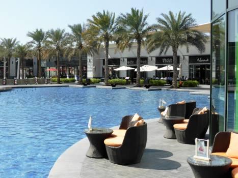 Beach blue water chair chic Free Photo