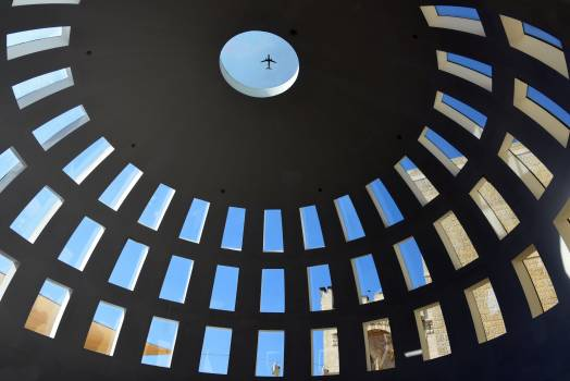 Aircraft ceiling dome shopping centre Free Photo
