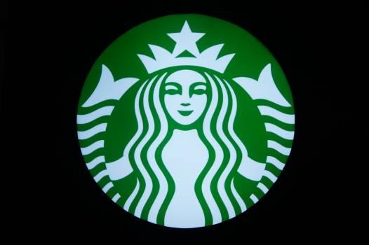 Coffee neon starbucks symbol mark #72491