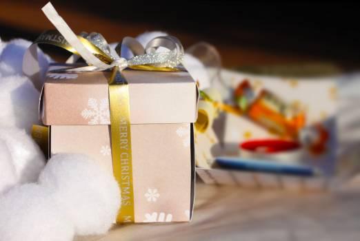 Birthday box christmas decorative Free Photo
