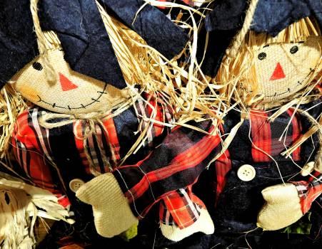 Decoration fabric harvest dolls straw Free Photo