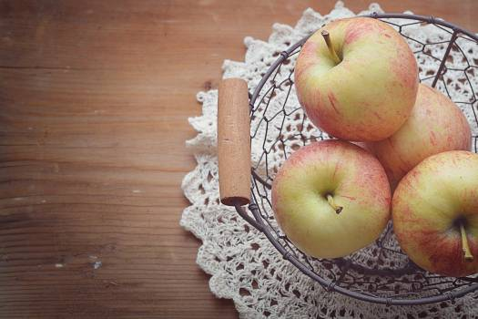 Apple basket close country life Free Photo