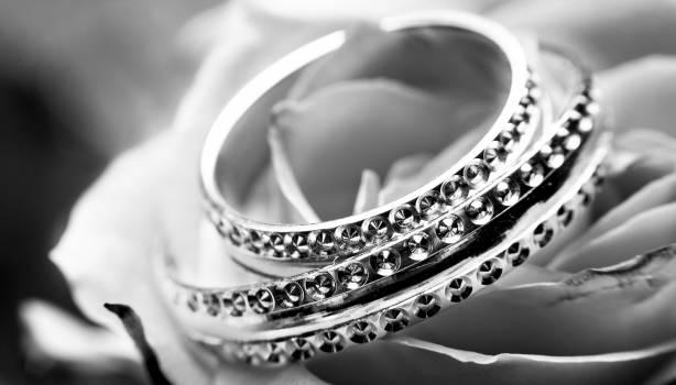 Black and white close up jewellery jewelry Free Photo
