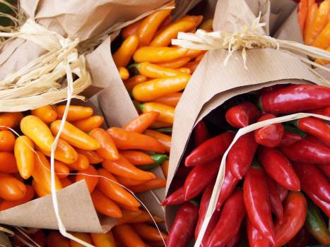 Chili food market market stall Free Photo