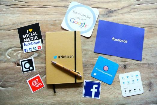 Facebook instagram network notebook Free Photo