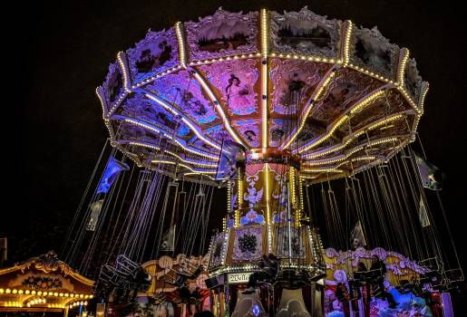 Carnies carousel colorful fair Free Photo