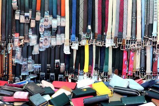 Belts farmers local market leather goods market #74139