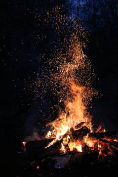 Ash blaze bonfire burn #74277