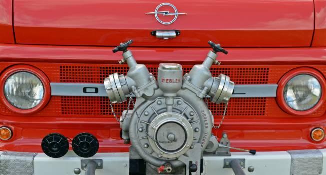 Fire fire truck opel blitz pump Free Photo