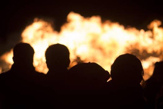 Chamiza fire night people Free Photo