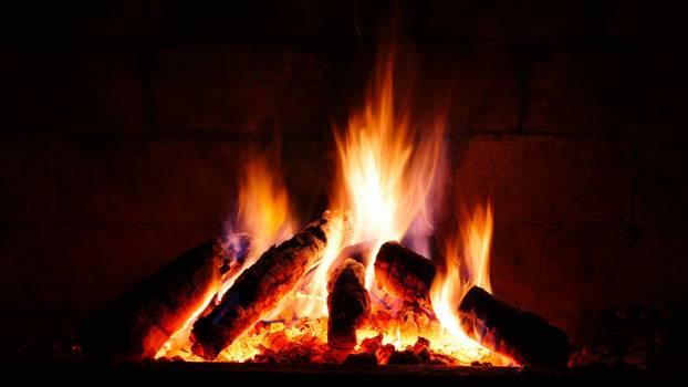 Bonfire burning burnt campfire #74445