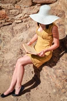 Book dress female girl Free Photo
