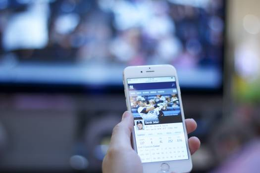 Baseball baseball player cellphone connection #75245