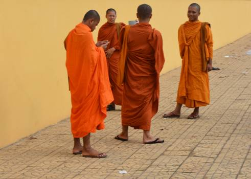 Asia cambodia monks social media Free Photo