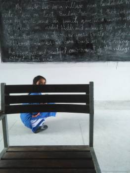 Black board chair childhood classroom #75355