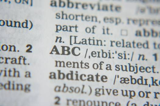 Abc dictionary education learning Free Photo