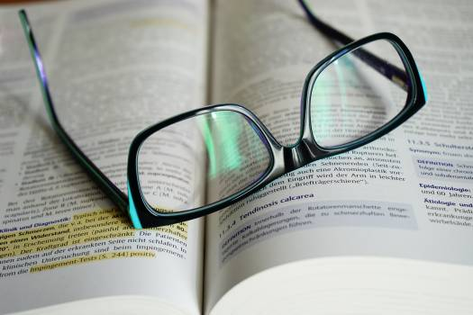 Book book pages eyeglasses knowledge #75532