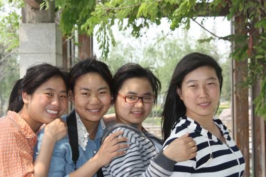Beauty campus girls happy Free Photo