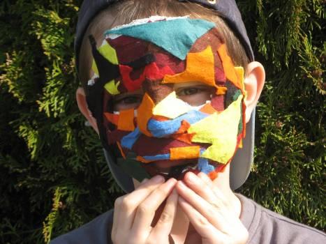 Carnival mask plaster mask students #75657