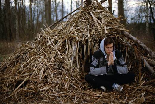 Hay haystack meditate meditating Free Photo