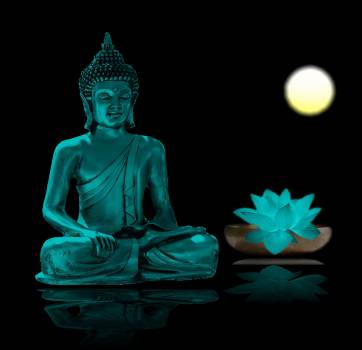 Asia believe blue buddha Free Photo