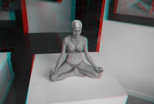Asana attitude body and spirit harmony concentration Free Photo