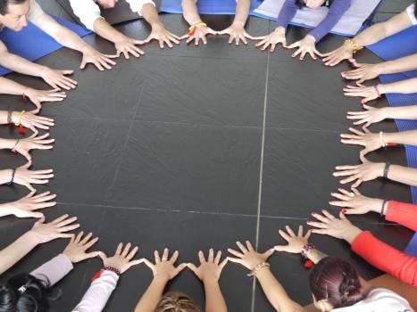 Circle hands mandala team #75909