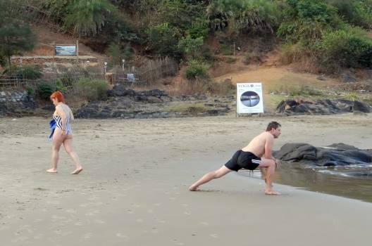 Active arabian sea beach exercise #76085