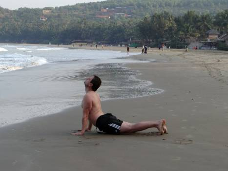 Active arabian sea beach exercise #76125