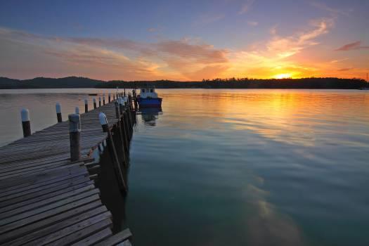 Beach clouds dawn dock #76321