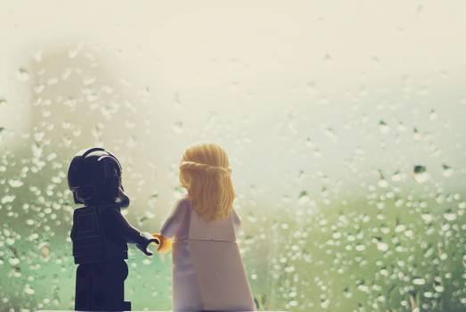 Fun lego love rain Free Photo