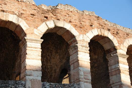 Amphitheater arches arena di verona italy Free Photo