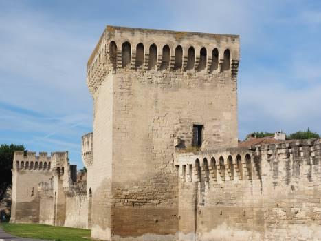 Architecture avignon city wall defensive tower #76834
