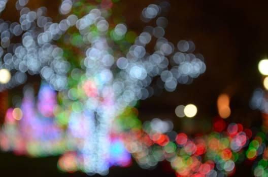 Blurred bokeh bright christmas lights #77284