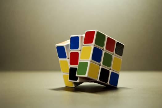 Cube game idea puzzle Free Photo