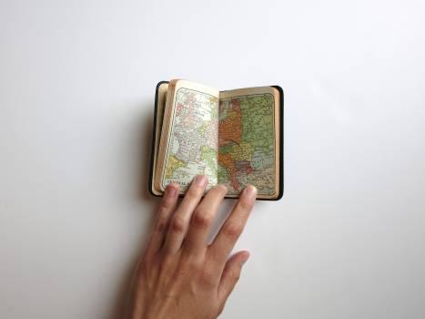 Hand map travel word Free Photo