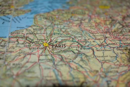 Close map paris Free Photo