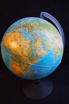 Africa globe hemisphere map of the world Free Photo