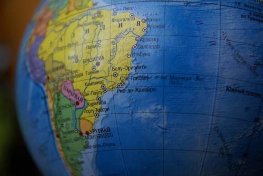 Brazil geography globe journey Free Photo