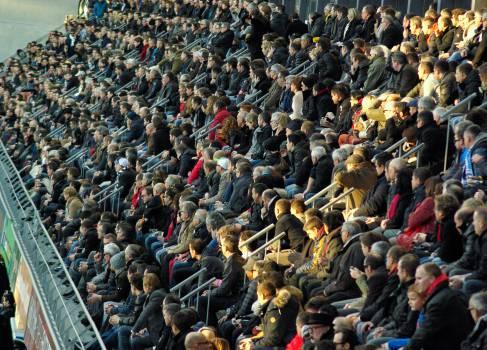 Crowd spectators stadium tribune Free Photo