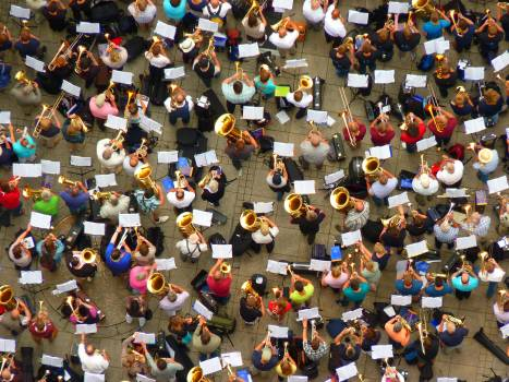 Cathedral square collection crowd group Free Photo